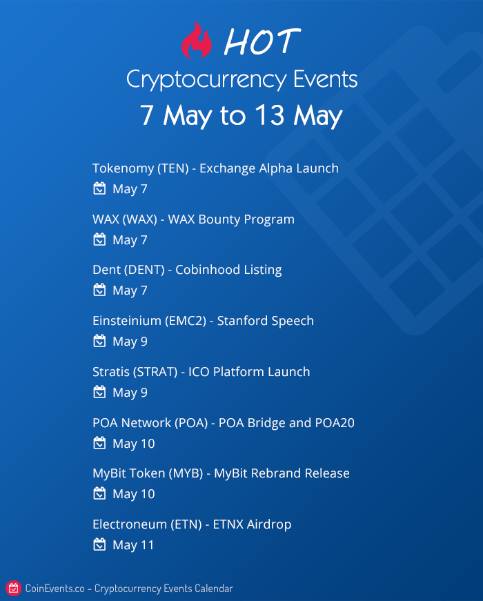 crypto events 7 to 13 may